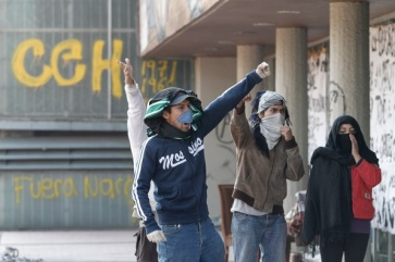 The occupation of the UNAM administration building. Photo by Cuartoscuro.