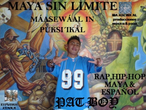 Pat Boy raps in Mayan and Spanish. Photo from a7.com.mx